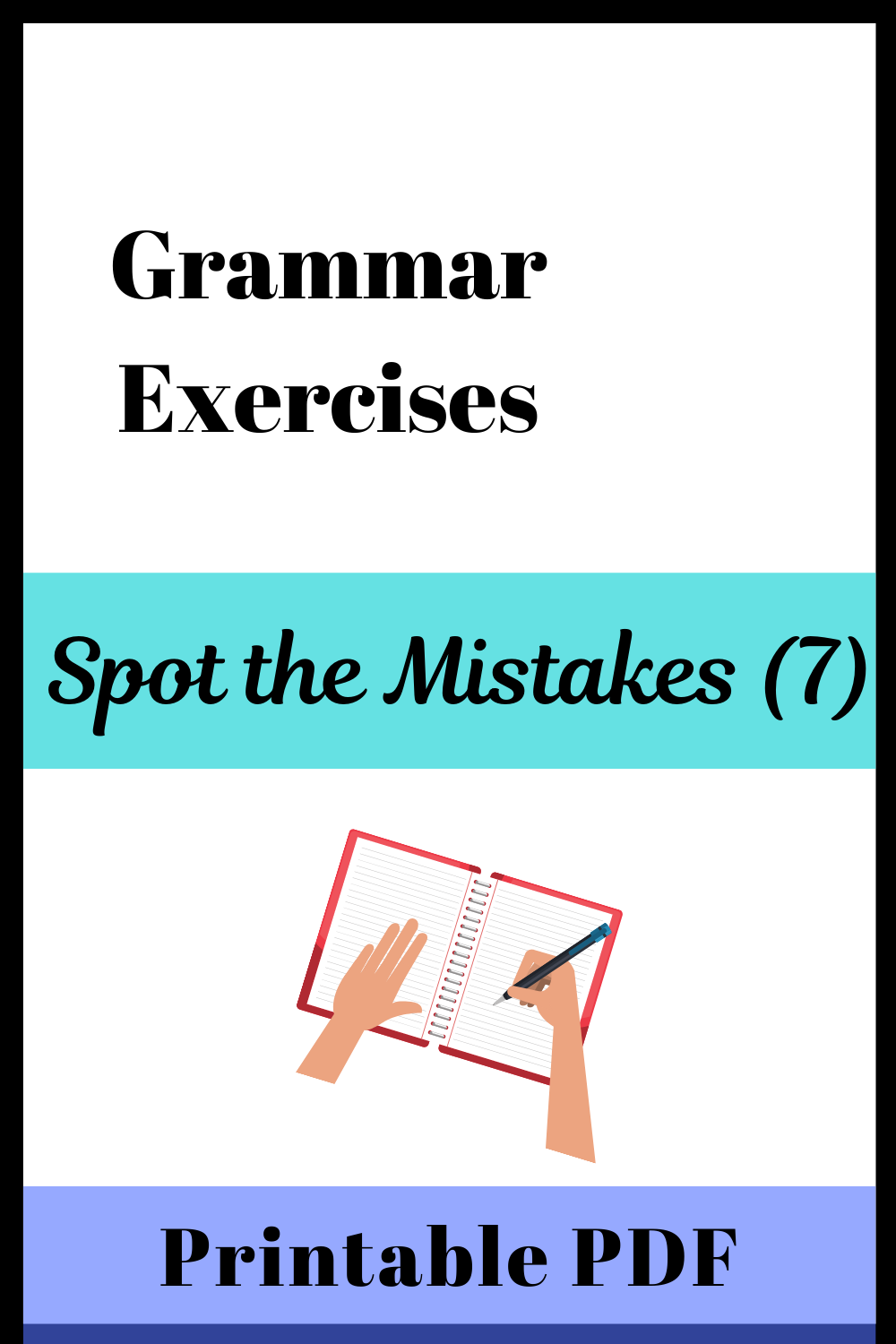Find The Grammar Mistakes 7 With Printable Pdf Learn English Grammar Exercises Grammar [ 1500 x 1000 Pixel ]