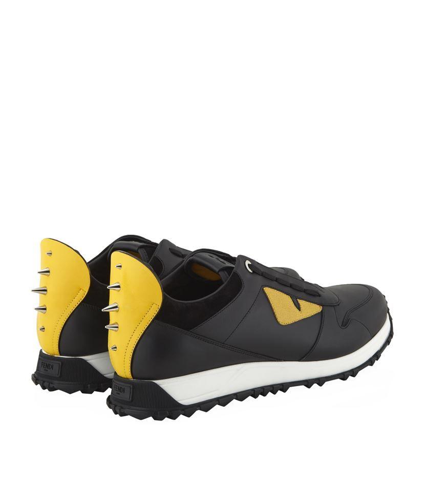 Fendi | Yellow Monster Eyes Sneaker for