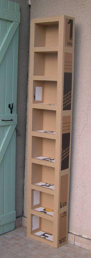 Tutoriel comment fabriquer un meuble en carton flores de papel cardboard furniture diy - Fabriquer meuble en carton ...