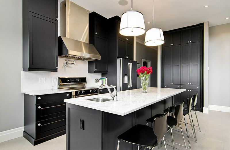 Black And White Kitchens Ideas, Photos, Inspirations Kitchens - simple kitchens designs