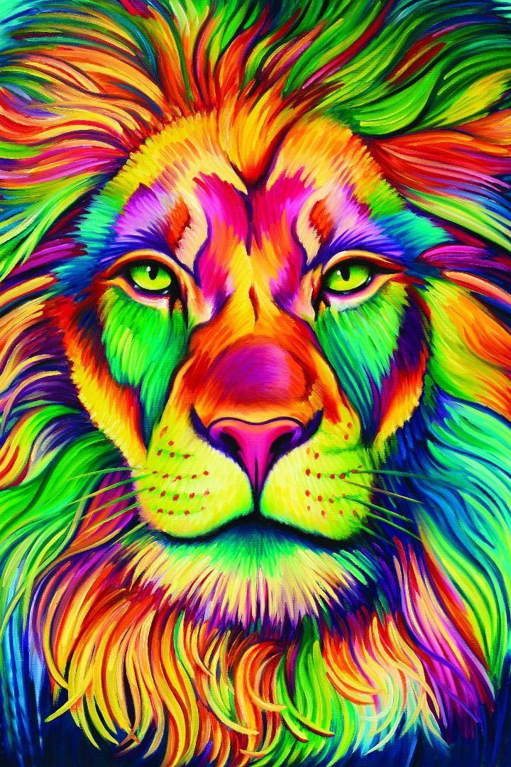 Je Trouve Ce Dessin D Un Lyon Magnifique Et Donc Je Vous Donnes La De Cinq Etoiles Peinture De Lion Tableaux Animaux Art Animalier