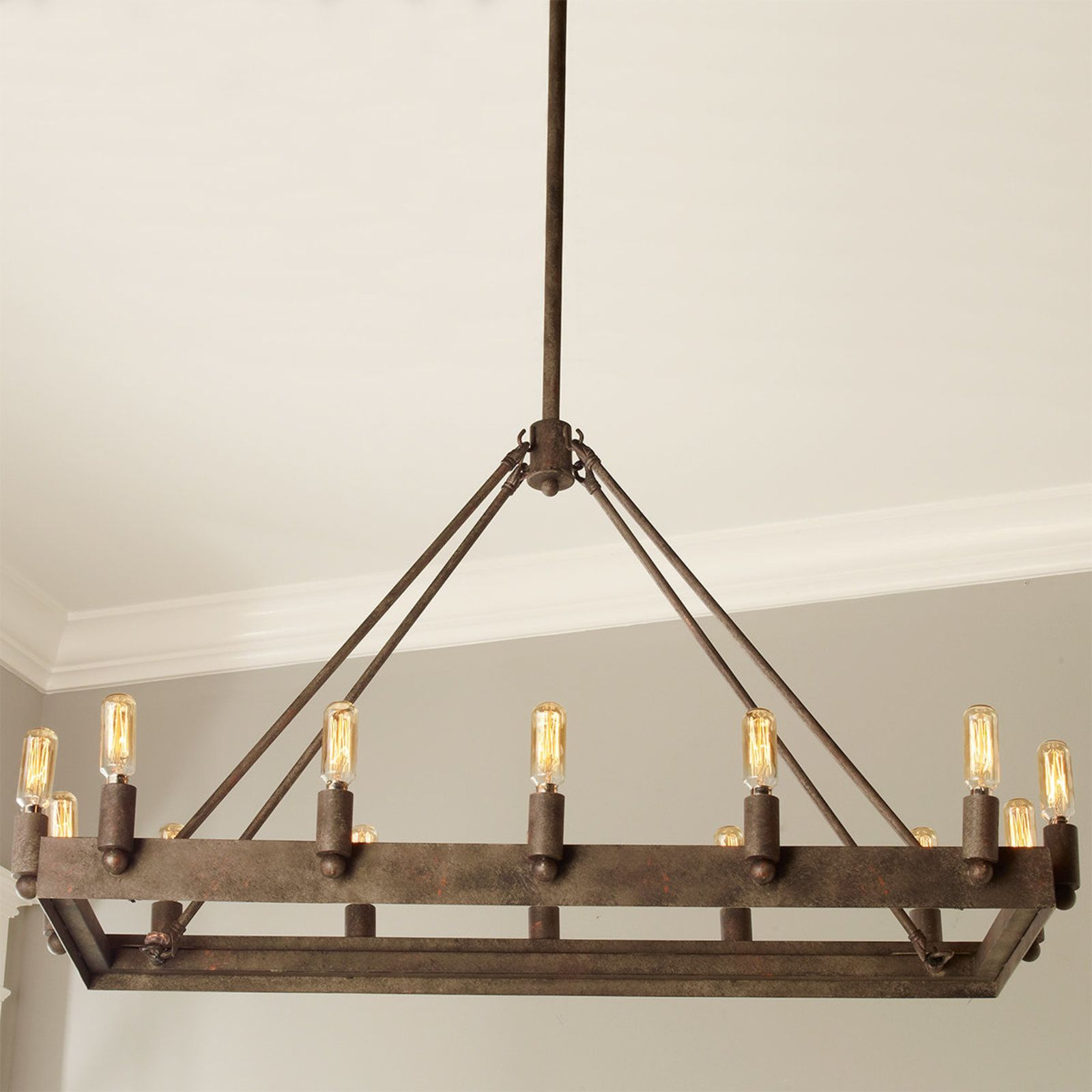 Urban Loft Industrial Rectangular Chandelier Rectangular Chandelier Chandelier Urban Loft
