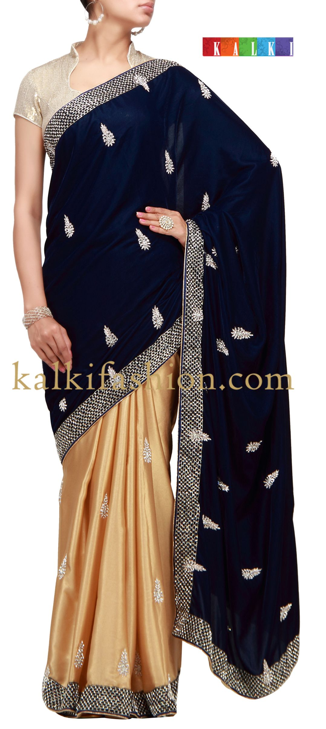 Casual dresses to wear to a wedding  Buy it now kalkifashionblueandgoldfoilhalfhalf