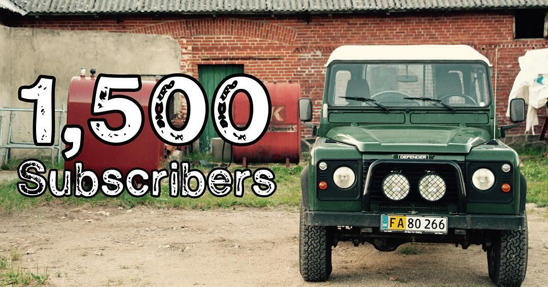 1500 subscribers! Amazing how quickly this has happened. Thank you all for your continued support and bring on 2000! #tirsbaektv #1500subscribers #1500subs #landrover #landroverdefender #vejle #youtube #tirsbaek #tirsbæk #awd by tirsbaektv 1500 subscribers! Amazing how quickly this has happened. Thank you all for your continued support and bring on 2000! #tirsbaektv #1500subscribers #1500subs #landrover #landroverdefender #vejle #youtube #tirsbaek #tirsbæk #awd