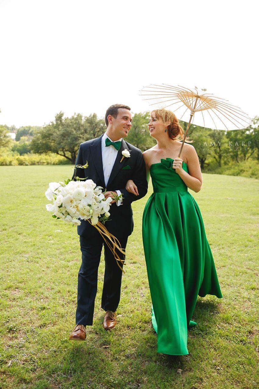 Green wedding dress :: A Surprise Fort Worth Wedding for Angela ...