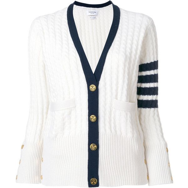 Navy Baby Cable V-Neck Cardigan Thom Browne Cheap Cost Buy Cheap Low Price Clearance Low Price Fee Shipping Aaa Quality ksGcP8f7D