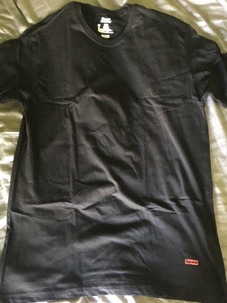 13744bd8ed53 Supreme Hanes Tagless T-Shirt Tee BLACK SZ M FW16 BOX LOGO (Single Shirt)  #fashion #clothing #shoes #accessories #mensclothing #shirts