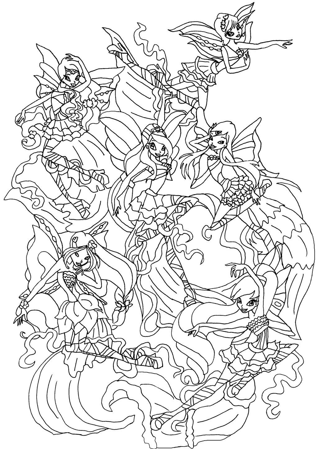 Winx Club Bloom Harmonix Coloring Pages | Winx | Pinterest | Malerei