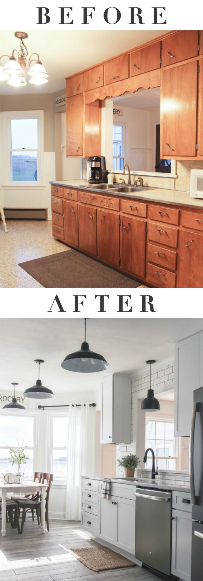 This Indiana farmhouse got a BIG kitchen makeover! Click