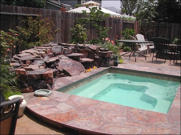 Inground hot tubs inground shotcrete concrete or for Pool design with hot tub