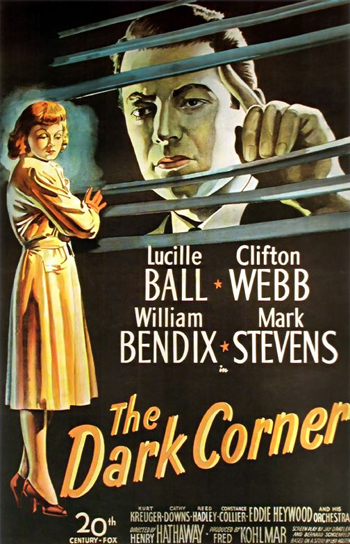 Lucille Ball The Dark Corner Film Noir Classic Movie Posters Wall ...