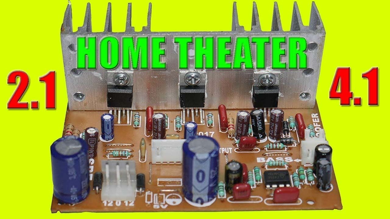 Tda2030 Hometheater 4 1 Circuit Wiring Connection 2 1 Subwoofer Electronic Circuit Projects Subwoofer Amplifier Circuit