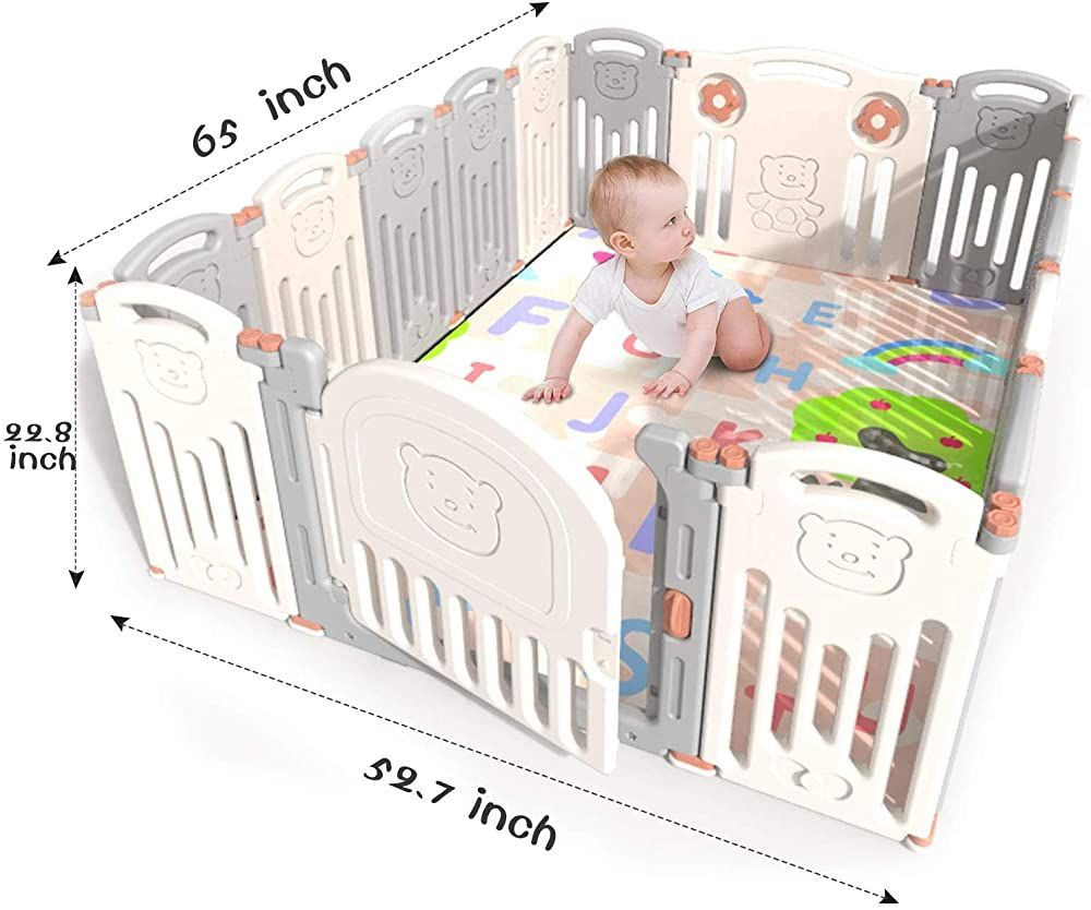 Kidsclub Baby Playpen 142 Panel Activity Center Safety Play Yard For Toddler Foldable Portable Hdpe In Baby Playpen Portable Play Yard Outdoor Activity Centres