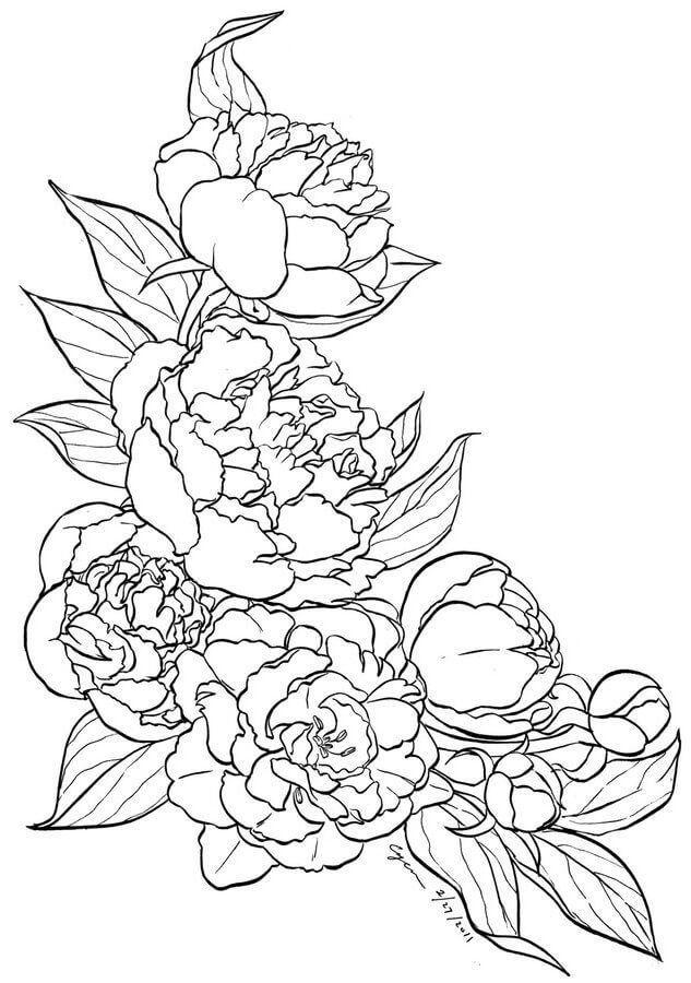 flower tattoo pattern | رسم | Pinterest | Bordado, Pintar y Colores