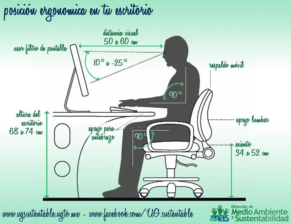 Postura Ergonomica Ergonomia En La Oficina Ergonomia En El Trabajo Disenos De Unas
