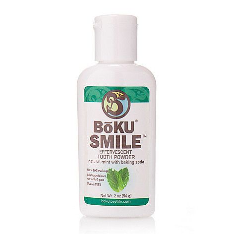 EVINE Live Online Home Shopping - BoKU Smile (2 oz) Fluoride-Free Effervescent Tooth Powder on sale.  BoKU Smile (2 oz) Fluoride-Free Effervescent Tooth PowderSET INCLUDES:Tooth Powder - 2 oz