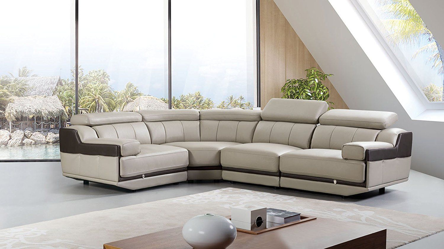 20 Awesome Curved Leather Sectional Sofa Leather Sectional Sofas