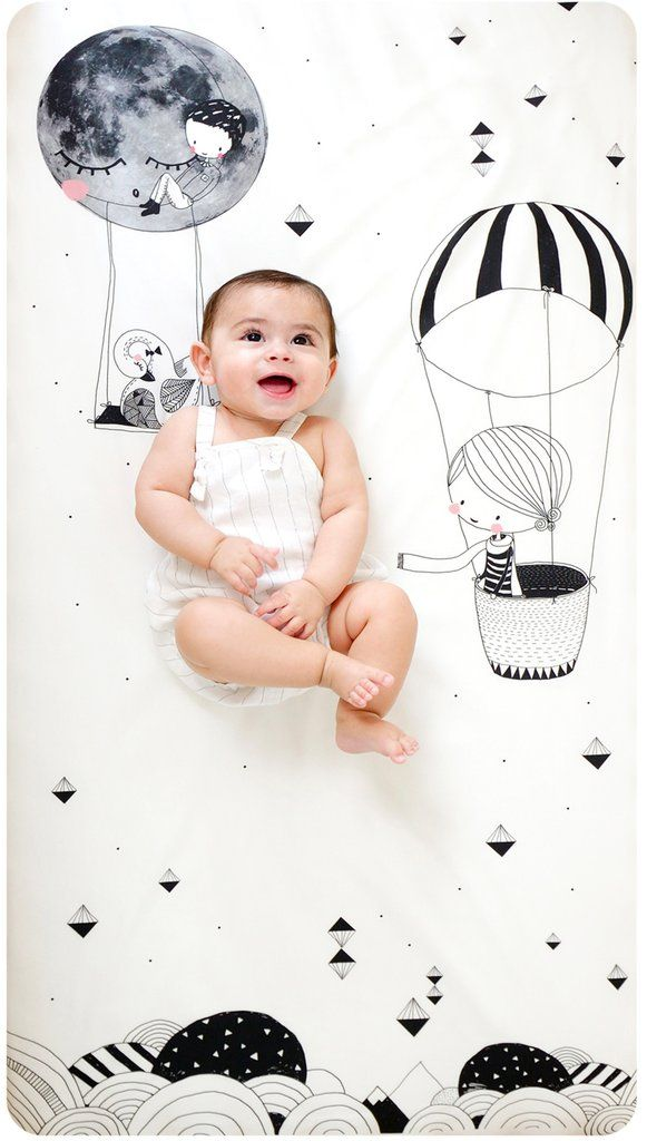 Frieda The Balloon Standard Size Crib Sheet Ebeveynlik Bebek