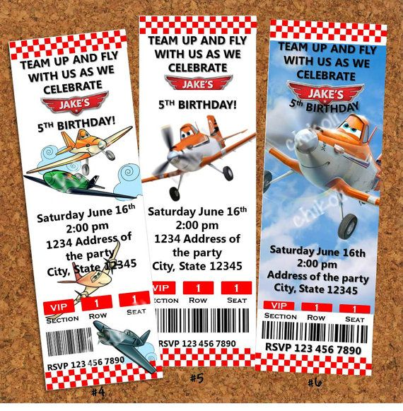 Disney Planes Birthday Party Invitations Disney Planes Birthday