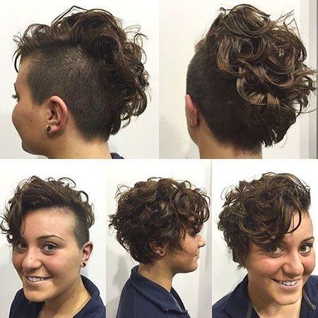 Cheveux courts en forme de coques frisées , 20 coiffures