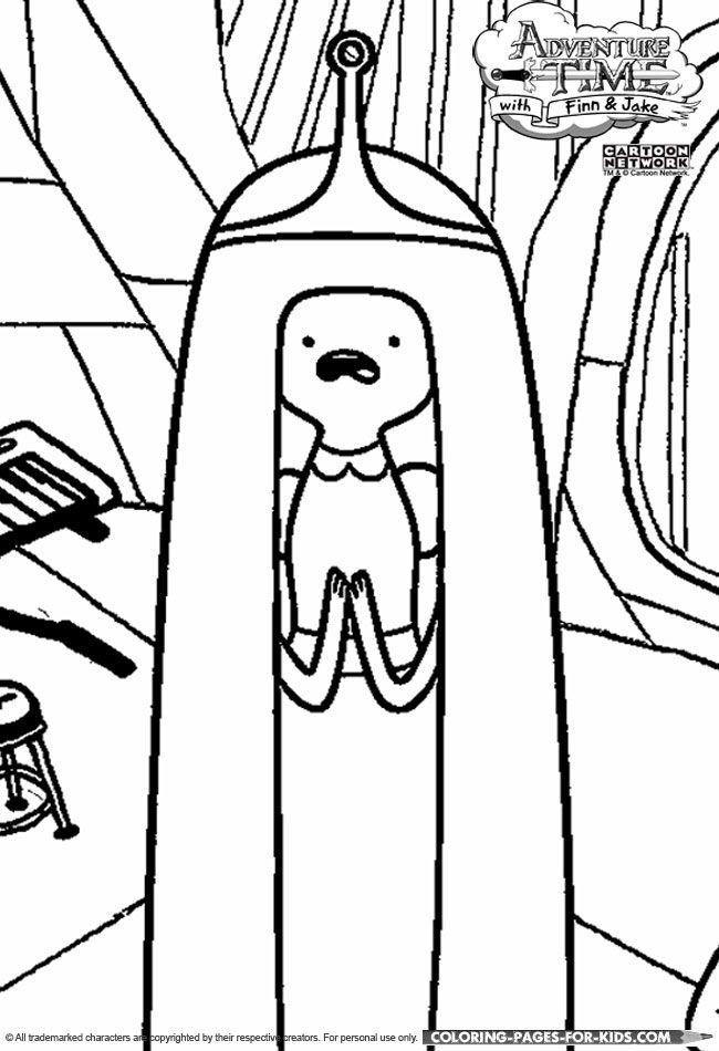 Adventure Time Princess Bubblegum Coloring