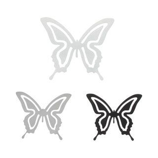 Evideco Metal Butterfly With Magnet Set Of 3 White Black Purple
