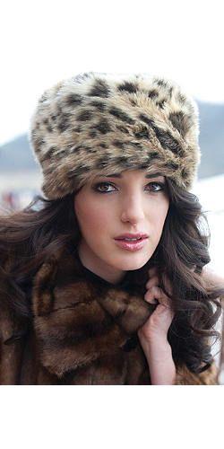 Faux Leopard Russian Style Hat