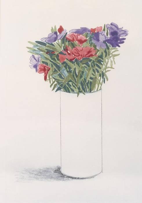 David Hockney - 'Godetia' -