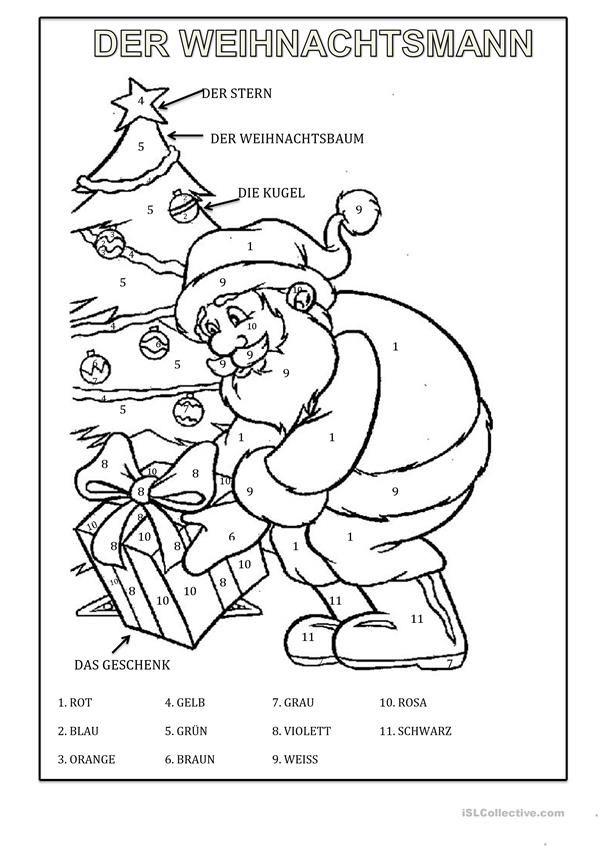Der Weihnachtsmann | Weihnachten (Deutsch für Kinder) | Pinterest
