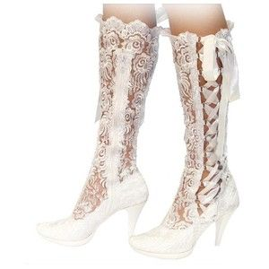 Ivory Lace Rounded Toe Bridal Wedding Shoes Boots Size Us 9 Uk 6 Eu 39 New In Clothing Accessories Formal Occasion