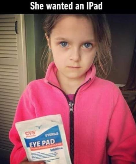 Eye Patch Kid Meme