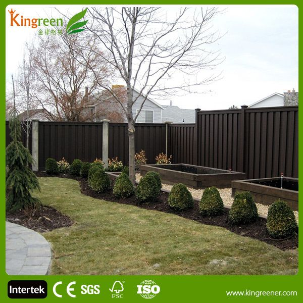 Outdoor Wpc Security Fence Wood Plastic Composite Lots Of