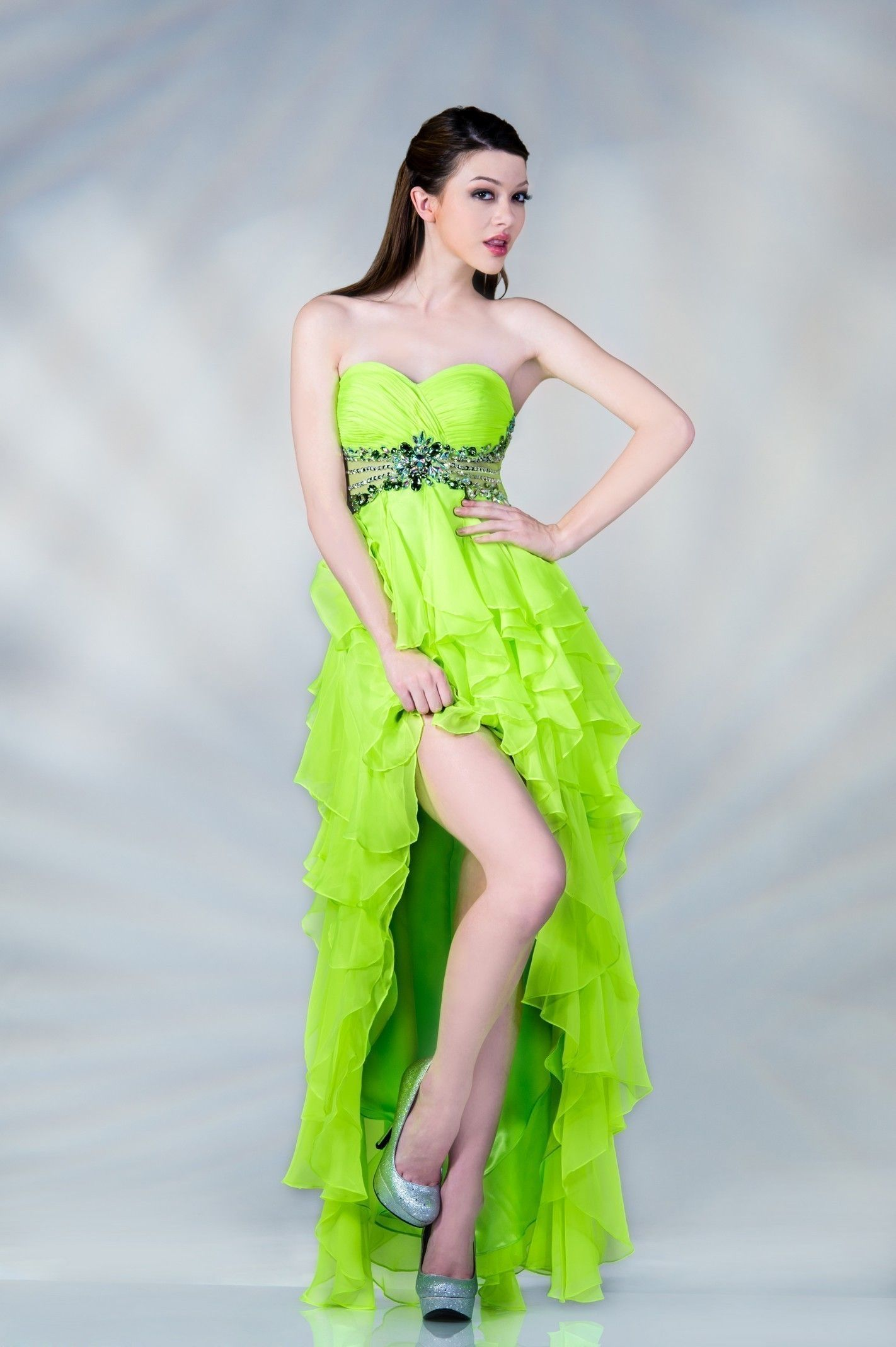 Lime Green Prom Dresses | ... LOW LONG DRESS FOR PROM MILITARY ...