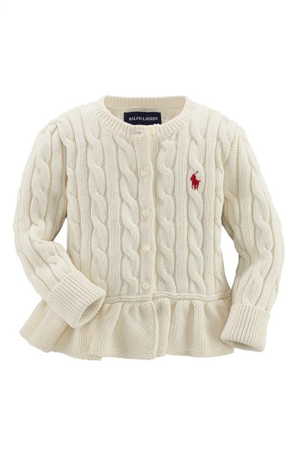 e14cb1b1779b Cyber Mondal Deal  Ralph Lauren Baby Peplum Cardigan