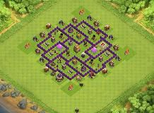 Monster TH 7 Clash of Clans Base Layout