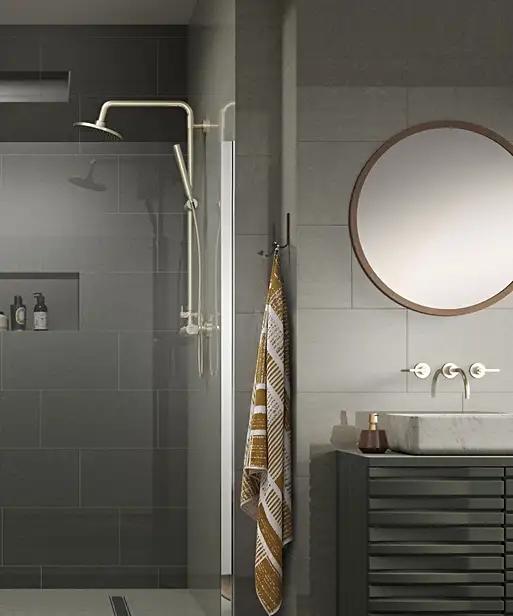 Regal Vanilla Polished Tile 60cm X 30cm Bathroom Style Color Tile Neutral Design
