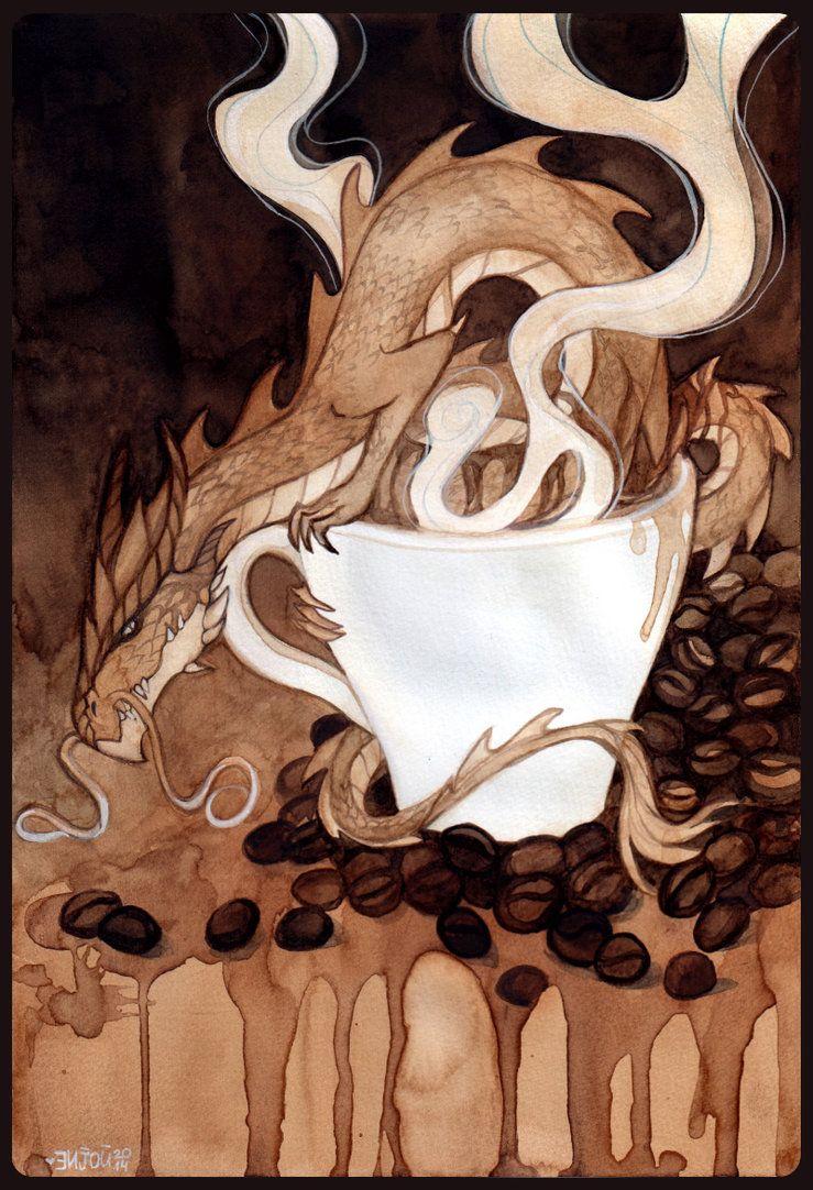 Coffee Cup Dragon By Enijoi Deviantart On