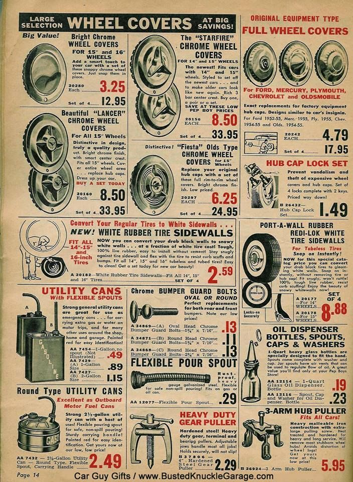 Pep Boys Catalog Page | Retro Auto Parts Catalogs | Pinterest | Kustom