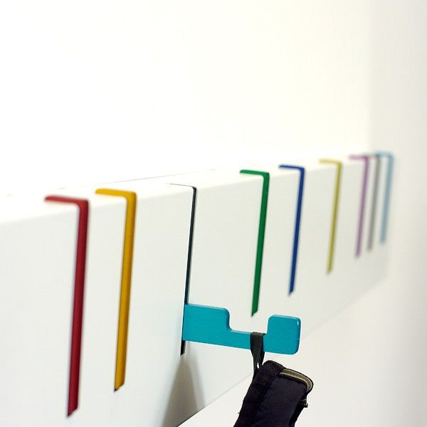 Coat Hook Designs the hooks pull out to help you organize your stuff. during the