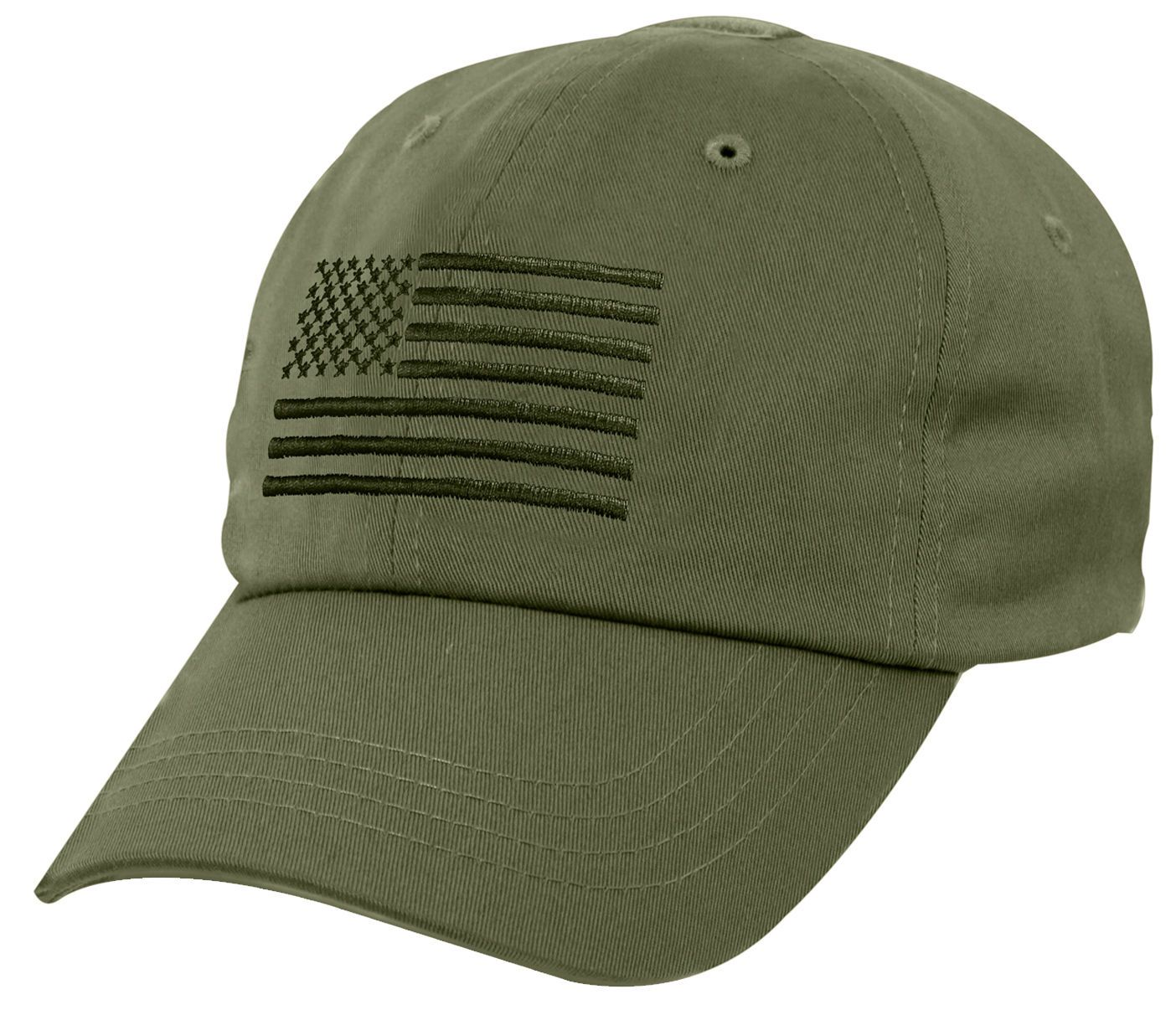 a020c105e Tactical Cap Operator Hat Ballcap Olive Drab USA US Flag Rothco 4633 ...