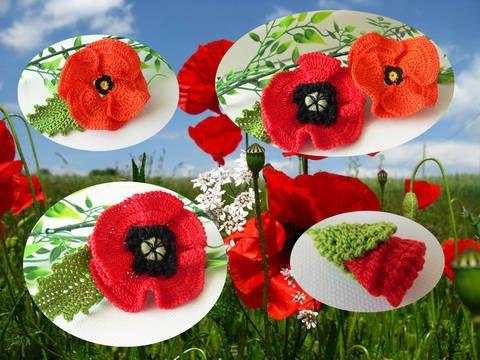 Häkeln mohnblume gratis Blume