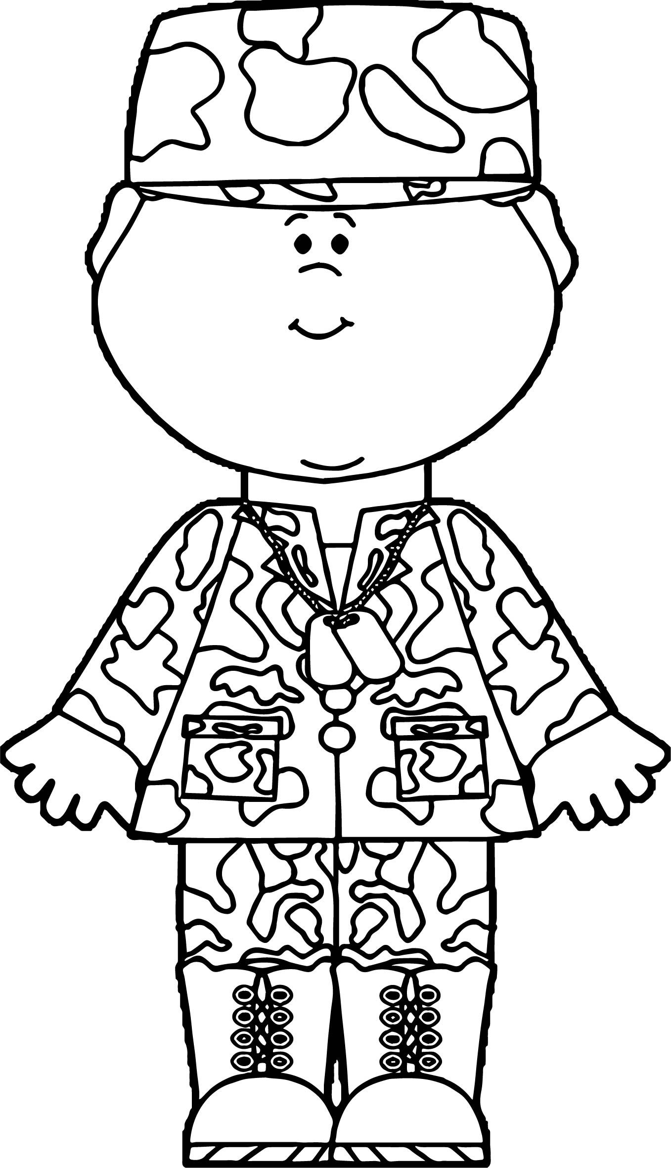 Cool Boy Kids Soldier Coloring Page Coloring Pages For Boys