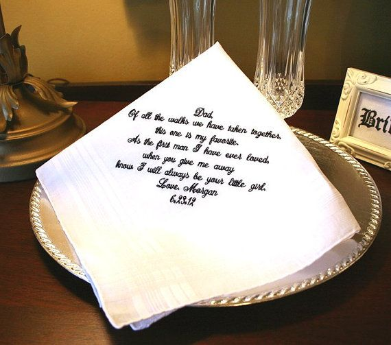 Father Of The Bride Handkerchief Hankie Hanky Gift For Wedding