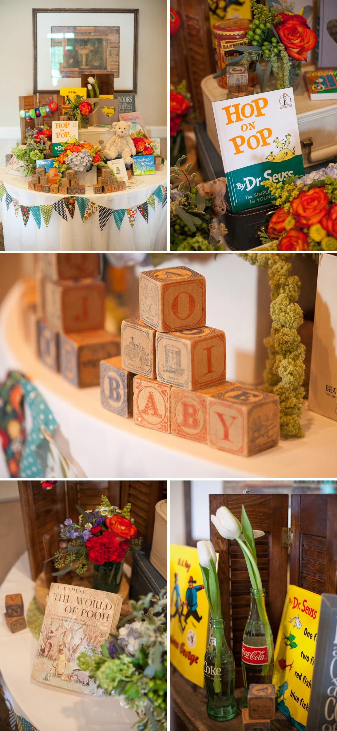 A Gender Neutral Children S Book Themed Baby Shower On To Baby Idee Bebe Bambini