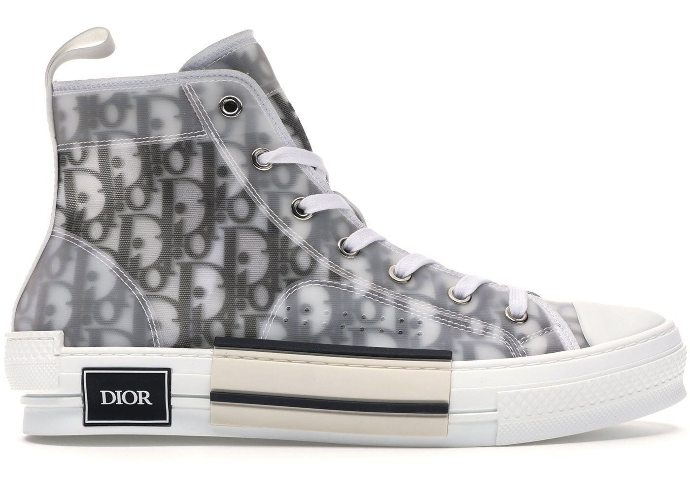 Dior B23 High Top Logo Oblique 1000 in 2020 Dior boots