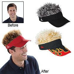 aa4c0b60d3f0eb1e8e8494d0c871a7c7 hilarious spiky hairdo attached to visor is just the topper for