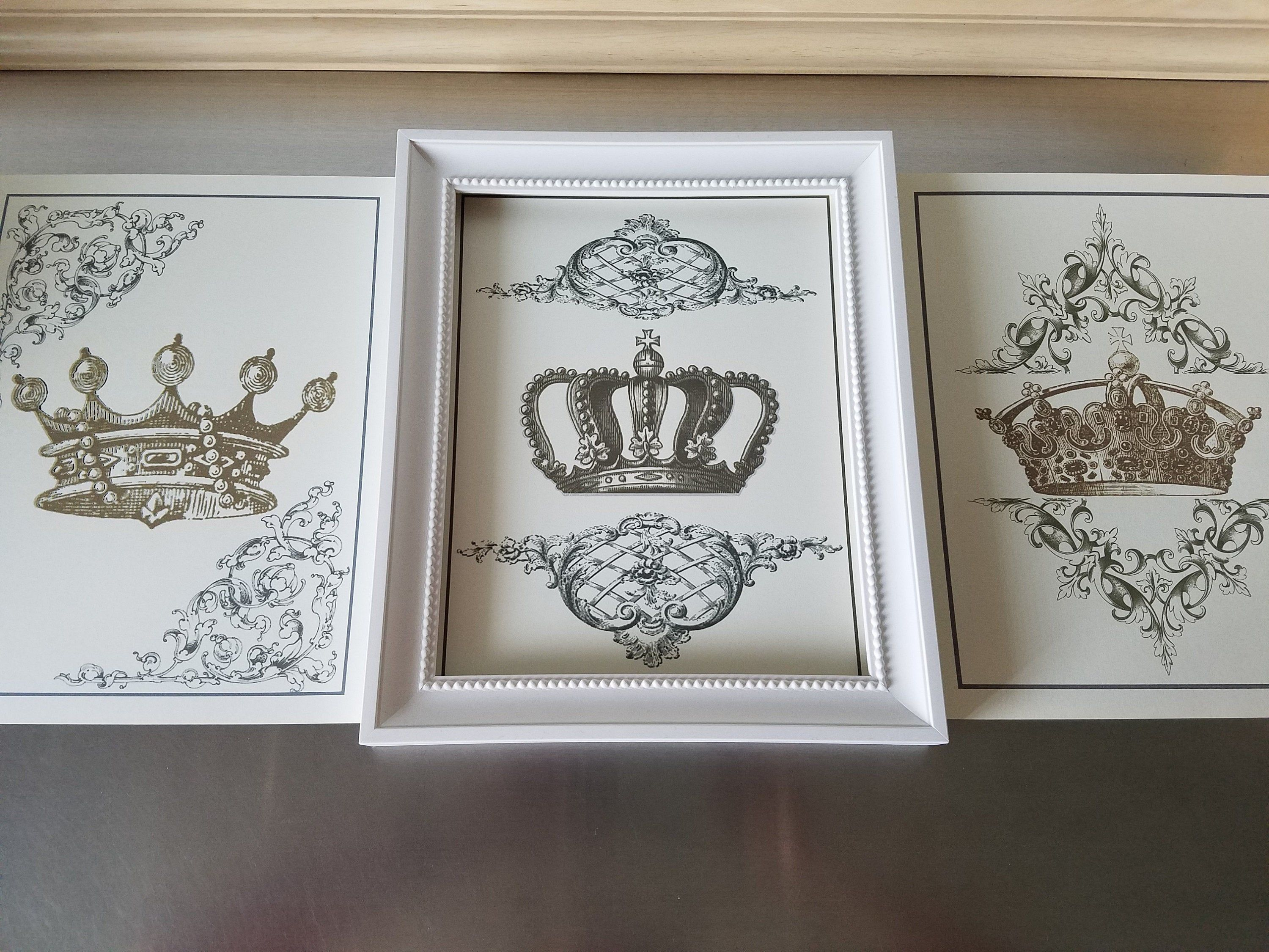 Crown Prints Set Of 3 Unframed 8 X 10 Posters French Country Wall Decor Modern Farmhouse Art French Country Wall Decor Country Wall Decor Country Wall Art