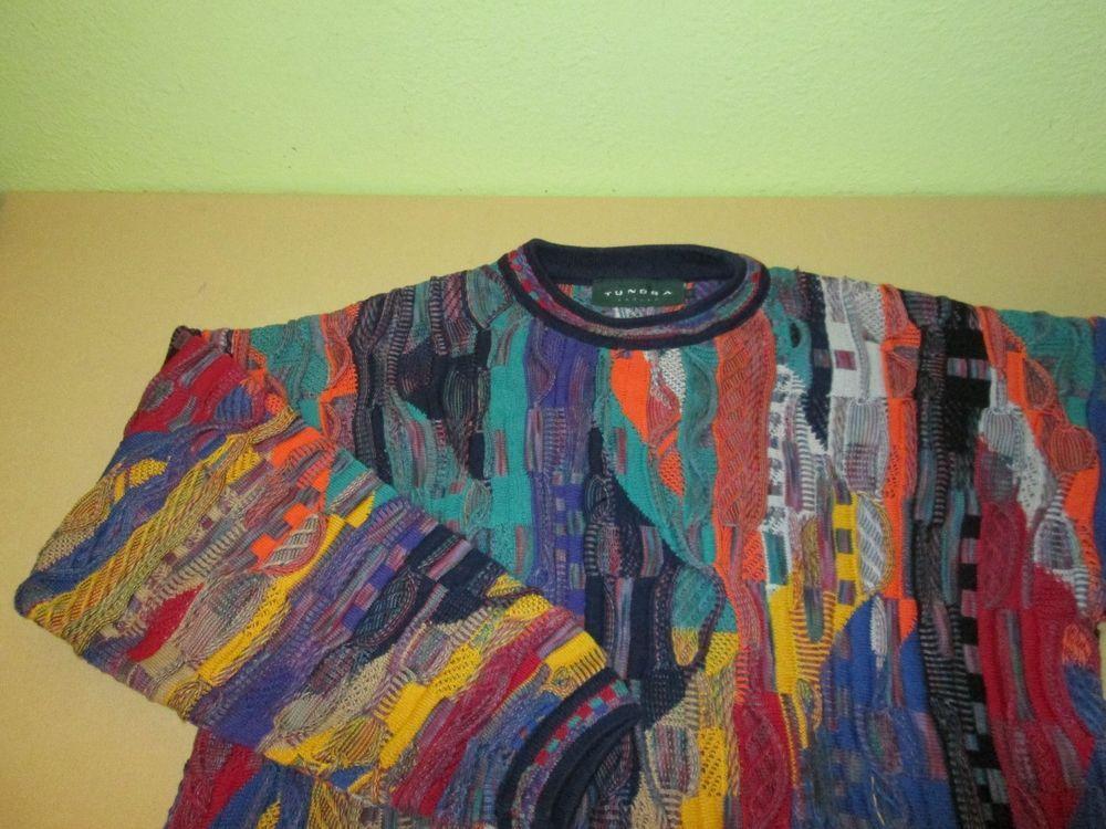Men's Vntg TUNDRA CANADA Crew Neck  Sweater  Sz M Medium  - Multi Color #Tundra #Crewneck