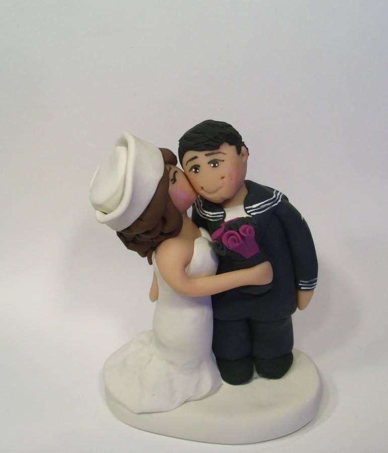 Custom Navy Wedding Toppers Military Facebook Gingerbabies