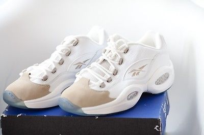 92ddd84a291 Reebok Iverson Questions Answers LOWS Rare NWB Collectible White Oatmeal  Size 10